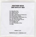 300 Days At Sea promo (Benelux, backcover)