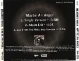 Maybe An Angel promo (backcover, USA)